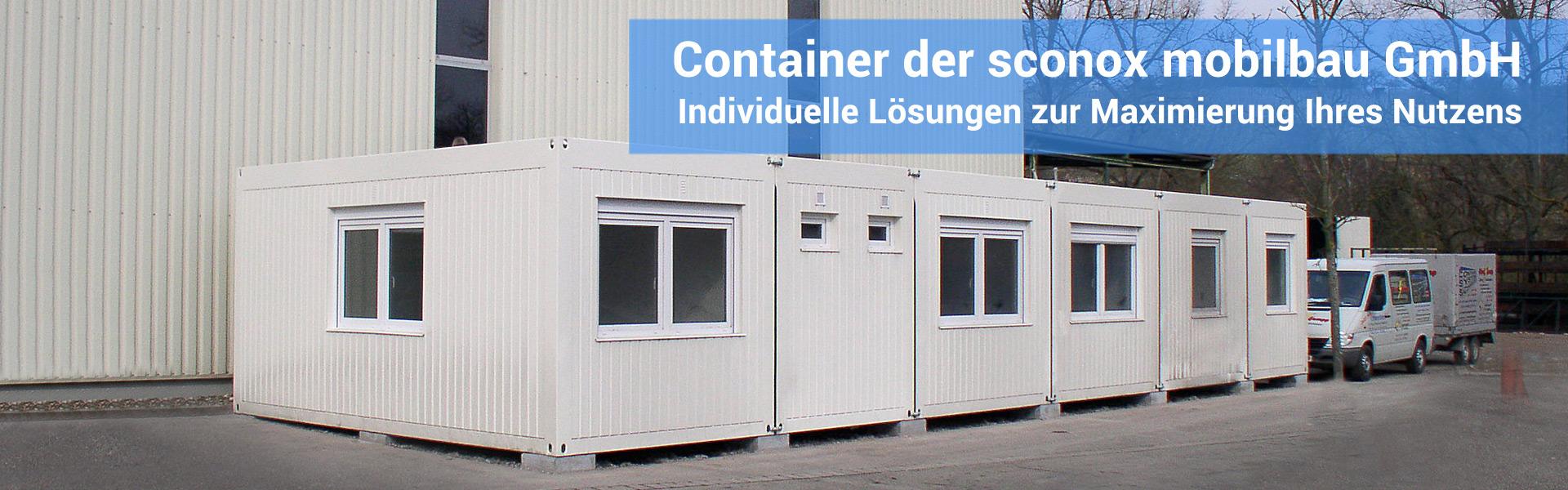 preise und beispiele f r b rocontainer und wohncontainer sconox. Black Bedroom Furniture Sets. Home Design Ideas