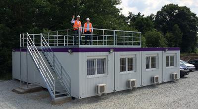Bürocontainer-Anlagen bis 200m²