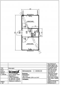 Bürocontainer 20 Fuß, 2 Büros und WC - 2140339