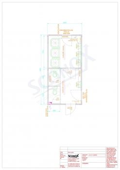 20OPPG 0635 - Dusch-/WC-Container 6*3m, abgetrennte Räume, Sockelkanal, Vorbereitung WW-Heizung