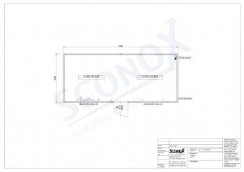 20OPPG 0271 - Bürocontainer 7*3m, LED/BAP-Leuchten, CEE-Außenstecker