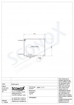 10ft-Standardcontainer mit Tür und Fenster längsseitig - 219 0868