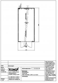 2141113 - isolierter Lagercontainer 18m², doppelflg. MZ-Außentür