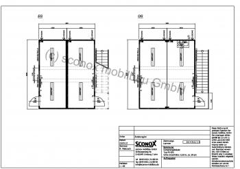 2130549A - 2-geschossige Bürocontaineranlage, Halleneinbau, ca. 60 m² Grundfläche