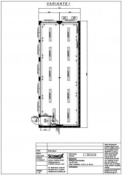 2140011 - Bürocontainer-Anlage, Großraumbüro Var. 1, ca. 62 m²