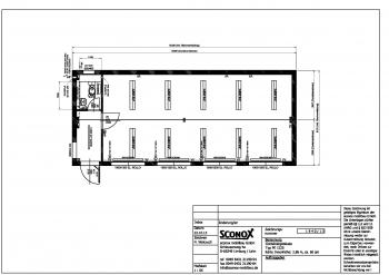 2131940 - Großraum aus Bürocontainern, Var. 2, ca. 60 m²