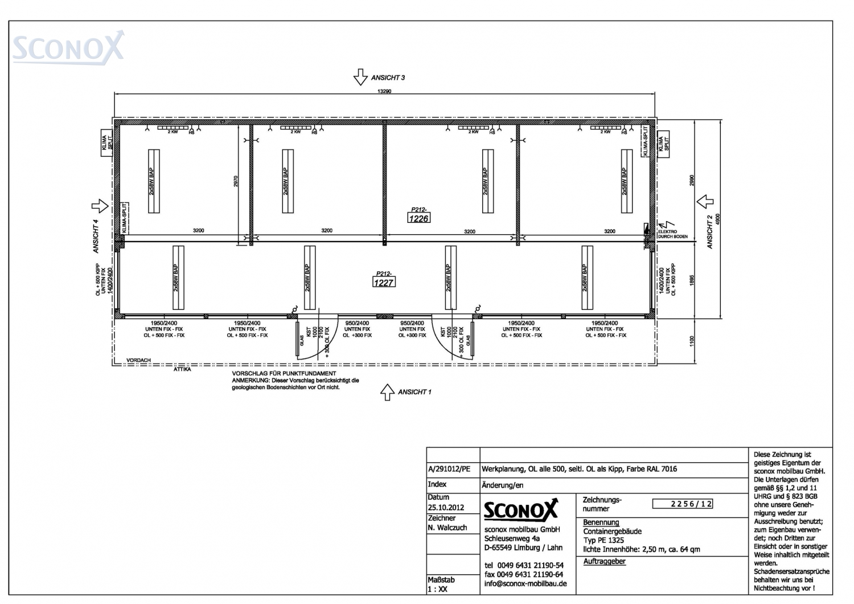2122256 verkaufsraum autohaus ca 64 m sconox gmbh b rocontainer preise. Black Bedroom Furniture Sets. Home Design Ideas