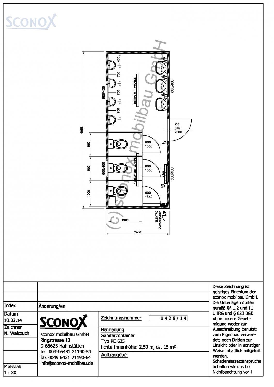 2140428 herren wc container 20 fu standard. Black Bedroom Furniture Sets. Home Design Ideas