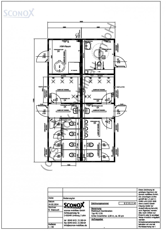 2140235 dusch wc anlage damen herren ca 65 m. Black Bedroom Furniture Sets. Home Design Ideas