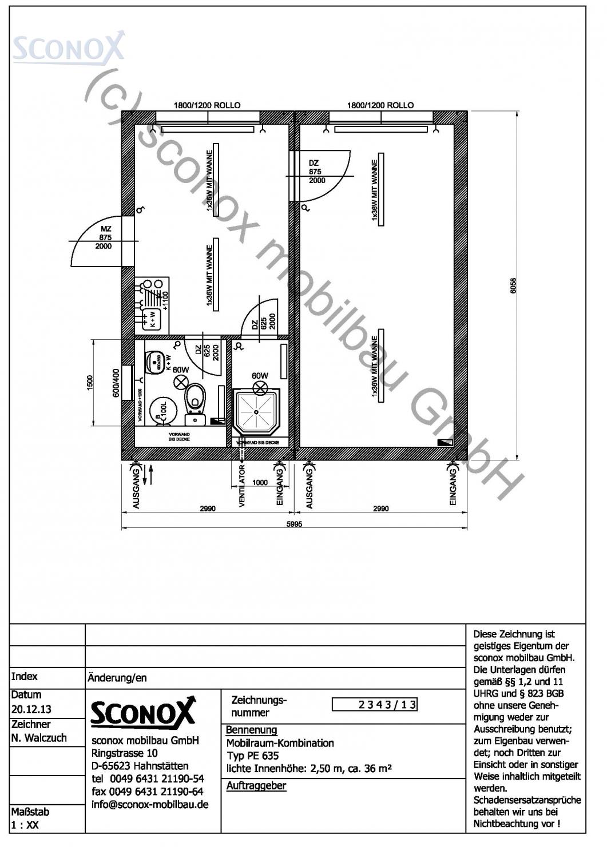 2132343 wohncontainer anlage ca 36 m var 2. Black Bedroom Furniture Sets. Home Design Ideas