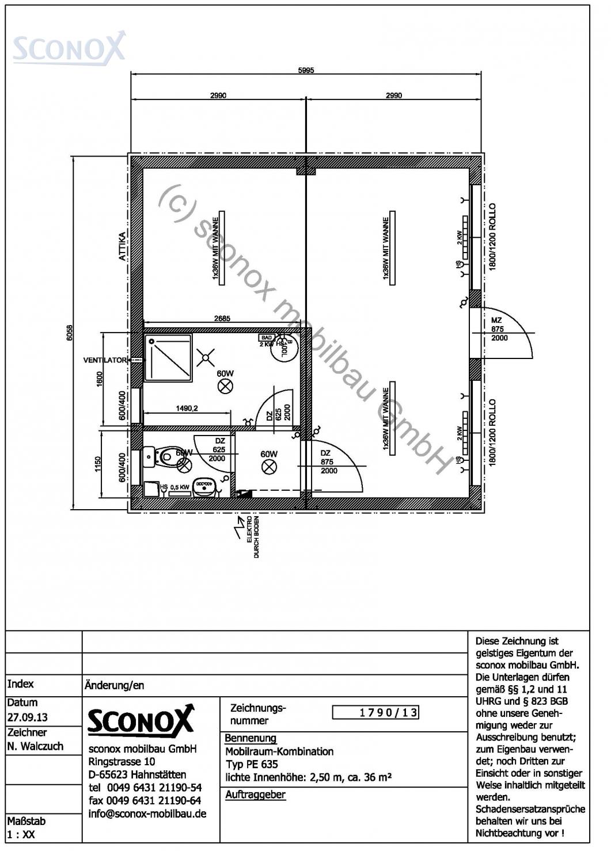 2131790 - Wohncontainer-Anlage, ca. 36 m²; Var. 1
