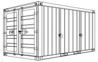So2 - Stahlcontainer - 2,93 x 1,85 x 2,25 m, 10 Fuß mit Absetzvorrichtung nach DIN 30720