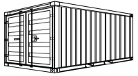 S1 - Stahlcontainer - 4,54 x 2,20 x 2,25 m, kleiner 15' Lager