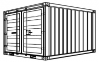 S6 - Stahlcontainer - 2,438 x 2,22 x 2,25 m, 8' Lager