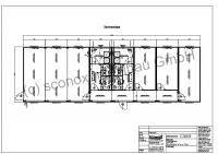 Serviceanlage, ca. 180 m², Standard-Dämmung, zentrale Gemeinschaftsküche, Unterkunft für 6 Personen, Duschen/WC´s