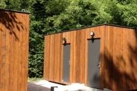 2181835 - Damen-/Herren-WC, 7m*3m, sehr hochwertig, Holzfassade