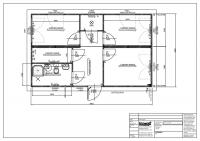 Wohncontainer mit ca. 49 m² Gundfläche und Satteldach - 2182413