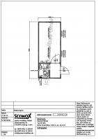2141054 - Bürocontainer 20 Fuß, Windfang, WC-Einbau