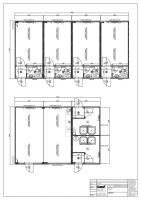 2182526_Var. 2 - 2-teilige Anlage, Wohncontainer mit WC, Sozialblock (Dusche, Aufenthalt)