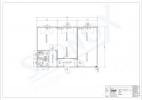20OPPG 0185 - 3er-Bürocontainer-Anlage, 54m², klimatisiert, mit WC-Einheiten