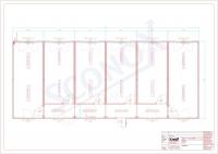 20OPPG 0518-Standard-Bürocontaineranlage mit innenliegendem Flur, ca. 135m²