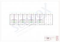 20OPPG 0110 - Wohncontainer-Anlage, Mitarbeiter-Unterkunft, ca. 225m², innenliegender Flur, Dämmung nach EnEV, mit Split-Klima