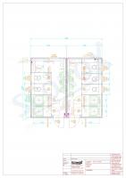 20OPPG 0499 - Sanitärcontainer-Kombination D/H, Dusche/WC, Vorwand, wandhängende WC