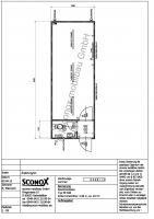 2130498 - Bürocontainer 32 Fuß, Windfang, WC-Einbau