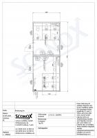 20OPPG 1480 - Hochwertiger D/H-WC-Container, 7,50m*3m, mit Wandfliesen, wandhängende WC, Vorwandinstallation