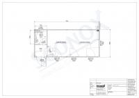 219 0330 - Bürocontainer, 21 m² mit Windfang und WC