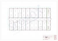 20OPPG 0003 - Bürocontainer-Anlage 480 m², Flur innenliegend, Dämmung für EnEv, WW-Heizkörper (bauseitige Therme)