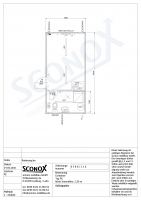 216 0388 - 18m² Standard-Wohncontainer, mit Dusche/WC und Miniküche