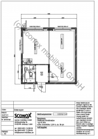 2141225 - Hochwertige Bürocontainer-Doppelanlage, Büro/Besprechung/Aufenthalt, ca. 36 m² Grundfläche