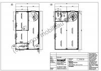 2131709 - 2-geschossige Anlage aus Bürocontainern, bspw. Hallenanbau, ca. 80 m² Grundfläche