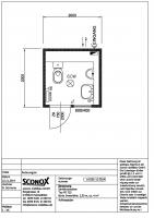 2141574 - Herren-WC-Container klein mit Vorwand 2,00 x 2,00m