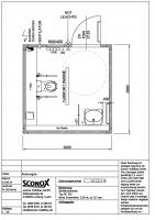 2141612 - Barrierefreier, behindertgerechter WC-Container 3,00x2,99m